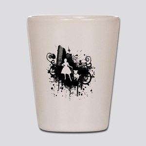 Urban Girl and Dog Final1 white Shot Glass